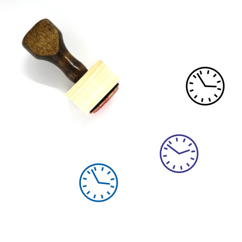 Clock Wooden Rubber Stamp No. 636