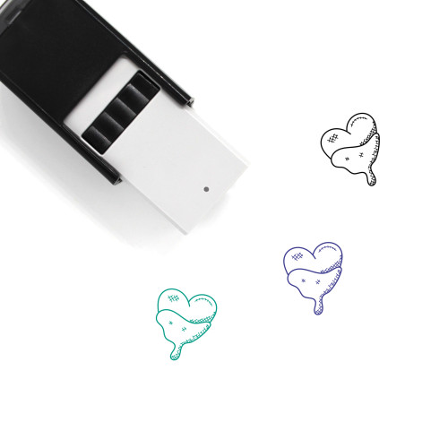 Chocolatey Heart Self-Inking Rubber Stamp No. 1