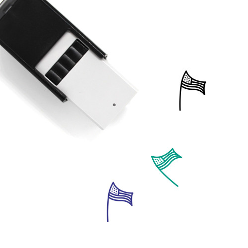 American Flag Self-Inking Rubber Stamp No. 13