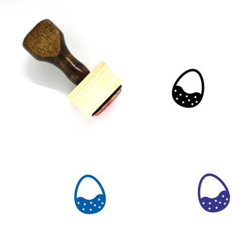 Chocolate Egg Wooden Rubber Stamp No. 1