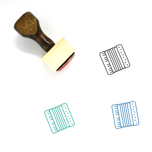 Accordion Wooden Rubber Stamp No. 6