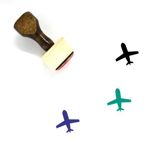 Airplane Wooden Rubber Stamp No. 318
