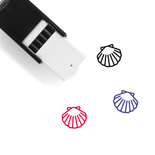 Seashell Self-Inking Rubber Stamp No. 15