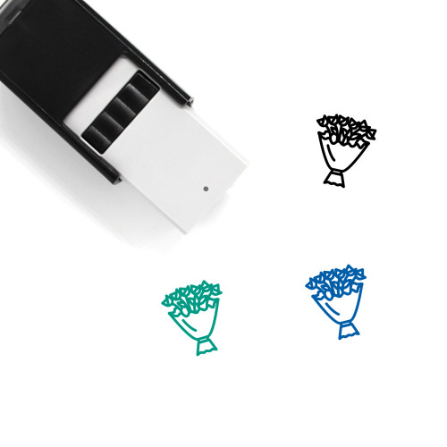 Flower Self-Inking Rubber Stamp No. 435