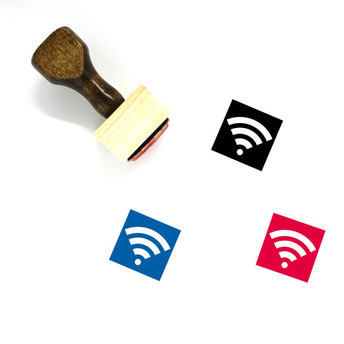 Wifi Wooden Rubber Stamp No. 138