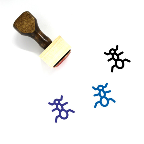 Ant Wooden Rubber Stamp No. 40