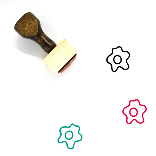 Cooked Egg Wooden Rubber Stamp No. 1
