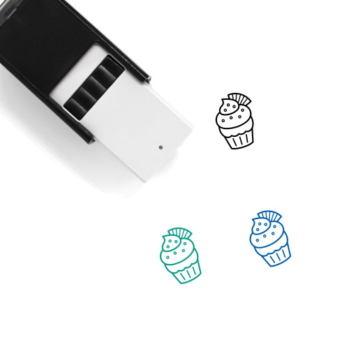 Wafer Cupcake Self-Inking Rubber Stamp No. 1