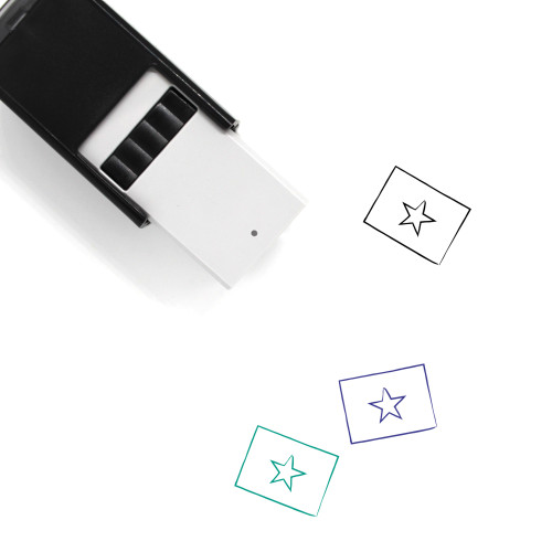 Vietnamese Flag Self-Inking Rubber Stamp No. 1