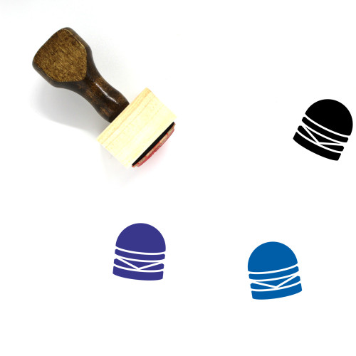 Cheeseburger Wooden Rubber Stamp No. 36