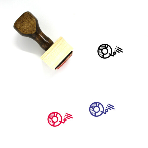 Data Points Wooden Rubber Stamp No. 2