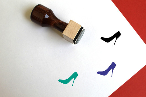 High Heel Shoe Wooden Rubber Stamp No. 1