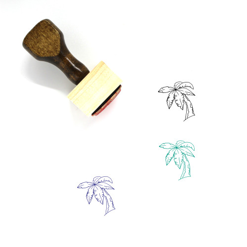 Palm Wooden Rubber Stamp No. 145