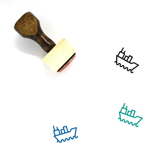 Ship Wooden Rubber Stamp No. 140