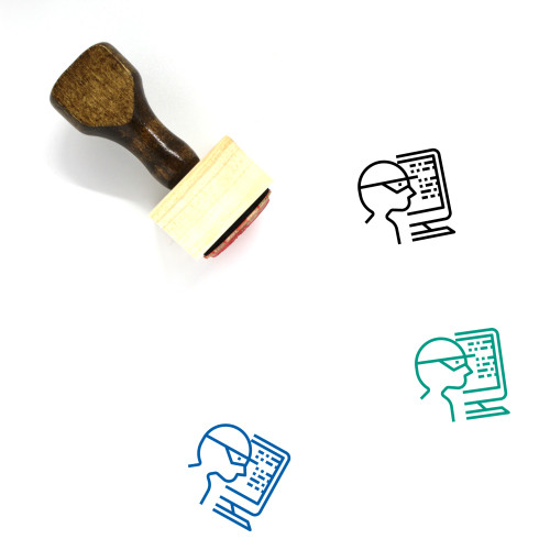 Cyber Crime Wooden Rubber Stamp No. 12