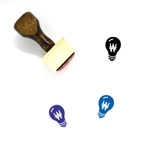 Light Bulb Wooden Rubber Stamp No. 326