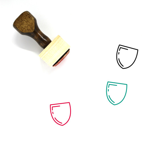Shield Wooden Rubber Stamp No. 704