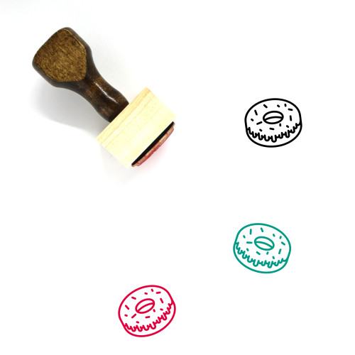 Frosted Doughnut Wooden Rubber Stamp No. 1
