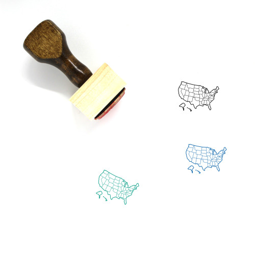 United States Wooden Rubber Stamp No. 86