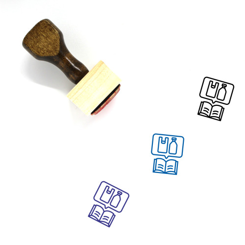Plastic Education Wooden Rubber Stamp No. 1