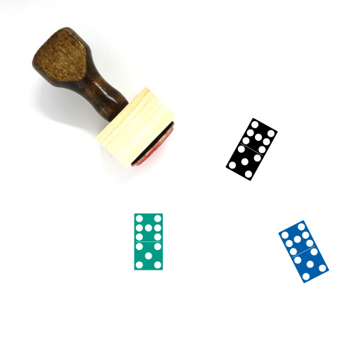 7 5 Domino Wooden Rubber Stamp No. 1