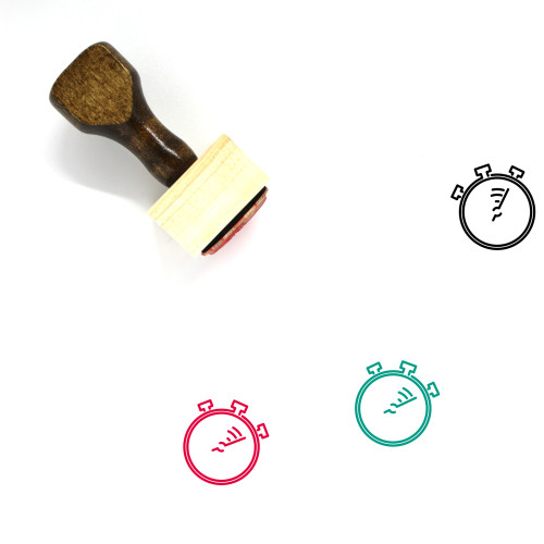 Stopwatch Wooden Rubber Stamp No. 70