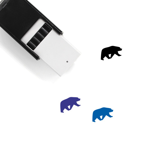Bear Self-Inking Rubber Stamp No. 127