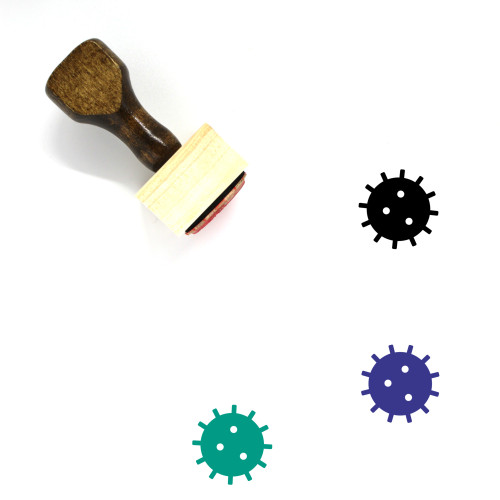 Bacteria Wooden Rubber Stamp No. 37