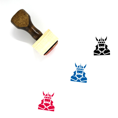 Vikings Wooden Rubber Stamp No. 5