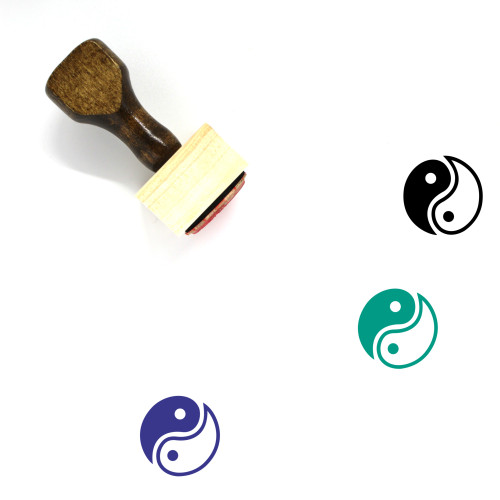 Yin And Yang Wooden Rubber Stamp No. 29