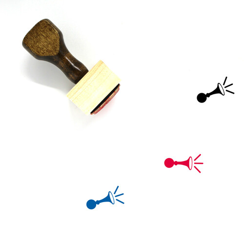 Bicycle Horn Wooden Rubber Stamp No. 1