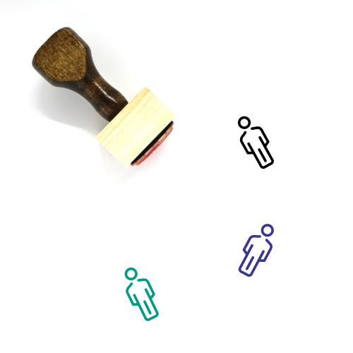 Male Wooden Rubber Stamp No. 111