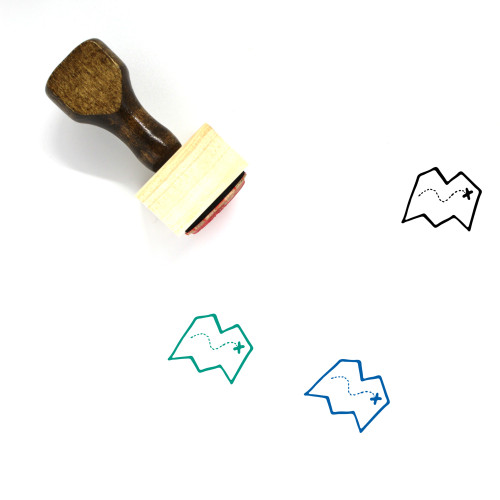 Map Wooden Rubber Stamp No. 604