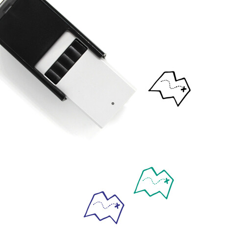 Map Self-Inking Rubber Stamp No. 604