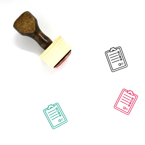 Agreement Wooden Rubber Stamp No. 35