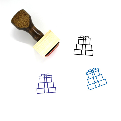 Presents Wooden Rubber Stamp No. 12