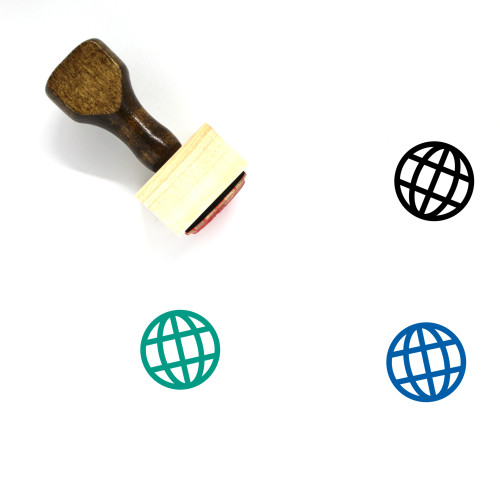 Globe Wooden Rubber Stamp No. 331