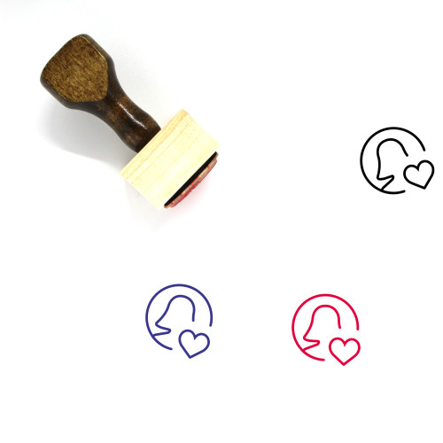 Like Profile Wooden Rubber Stamp No. 1