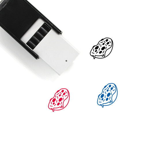 Pizza Bagel Self-Inking Rubber Stamp No. 1