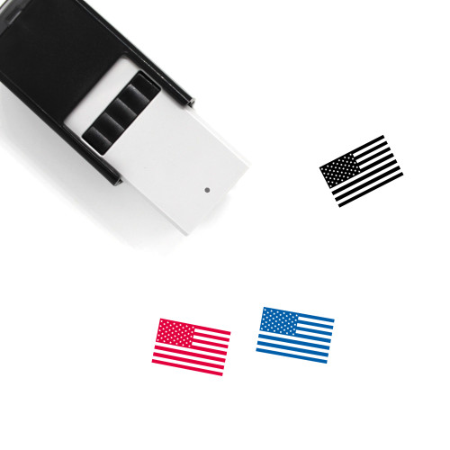 American Flag Self-Inking Rubber Stamp No. 14