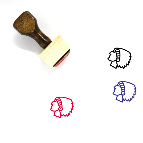 Indian Man Wooden Rubber Stamp No. 5
