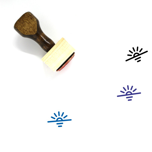 Sunset Wooden Rubber Stamp No. 73