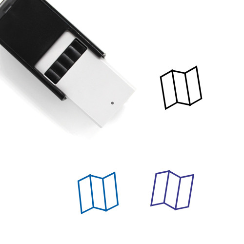 Map Self-Inking Rubber Stamp No. 608