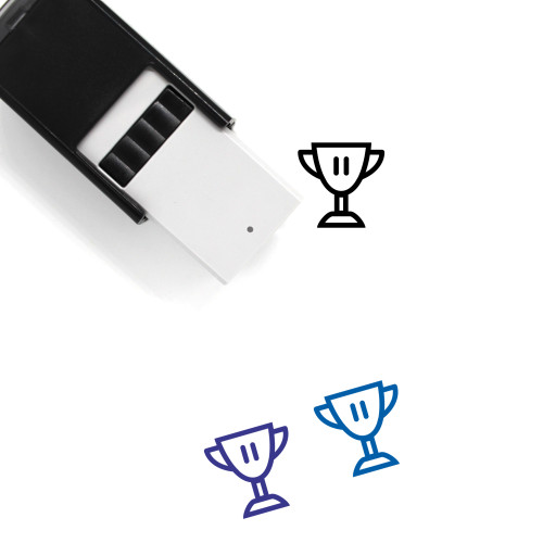 3Rd Place Trophy Self-Inking Rubber Stamp No. 2