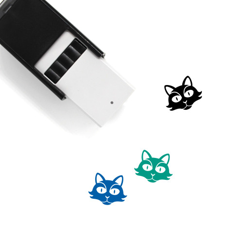 Black Cat Self-Inking Rubber Stamp No. 32