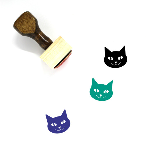 Cat Wooden Rubber Stamp No. 151