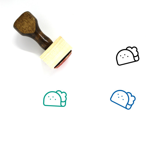 Taco Wooden Rubber Stamp No. 53