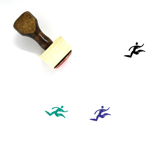 Run Wooden Rubber Stamp No. 11
