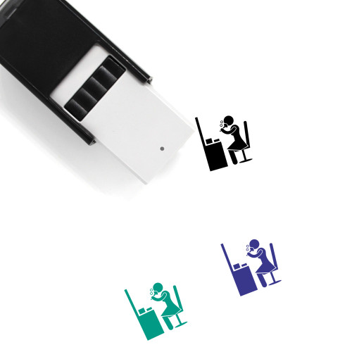 Makeup Self-Inking Rubber Stamp No. 124