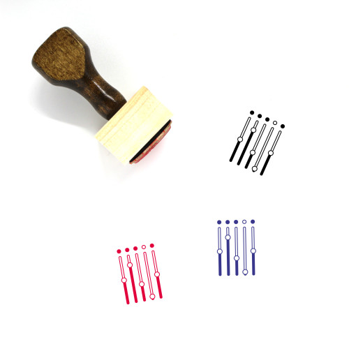Sliders Wooden Rubber Stamp No. 50